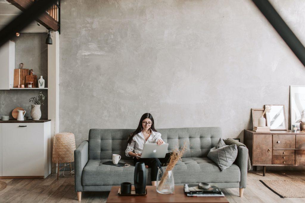 Arbete i soffan
